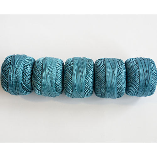 Perle Cotton 5-Size Thread Pack – Very Dark Turquoise