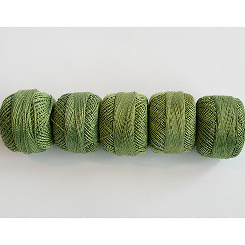 Perle Cotton 5-Size Thread Pack – Olive