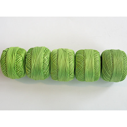 Perle Cotton 5-Size Thread Pack – Chartreuse