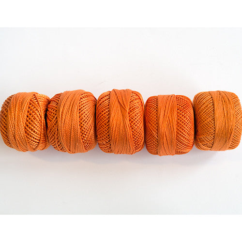 Perle Cotton 5-Size Thread Pack – Orange
