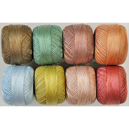 Perle Cotton Dusty Mix Thread Pack – size 12