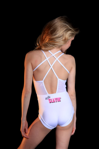 The Gabriella Leotard - White