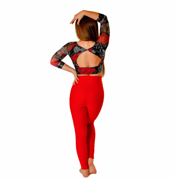 Burnt Scarlet Legging
