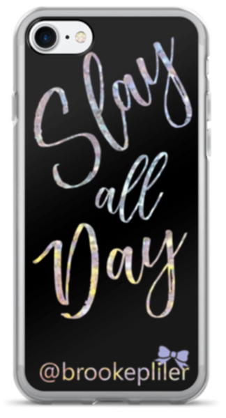Slay all Day with Instagram handle iPhone Case