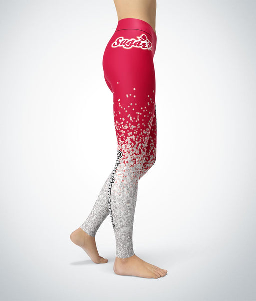Red Glitter - Custom Legging