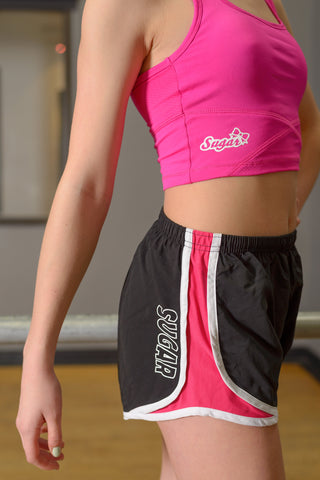 On the Go! Shorts - Pink and Black