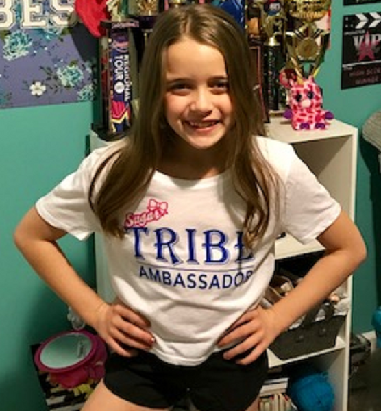 SUGARTRIBE Official Ambassador Tee-Cute on Girls Sizes!