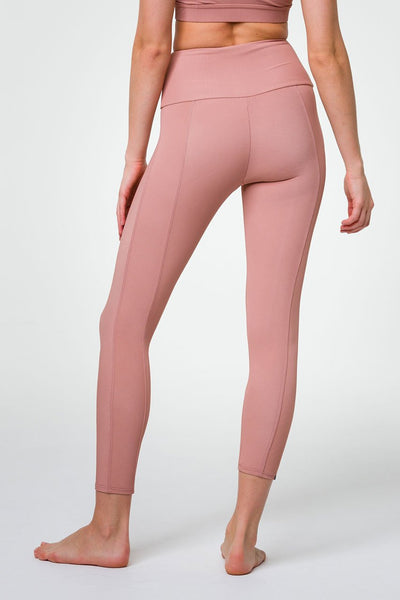 Sweetheart Midi Legging - Ribbed Fawn