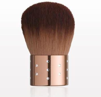 Kabuki Brush with Glimmering Bronze Handle