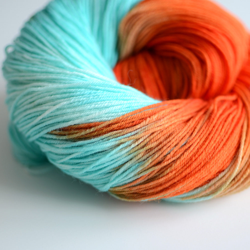 Sun Also Rises - Hand Dyed Yarn - Fingering