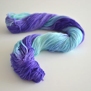 READY TO SHIP Blue Dart - Hand Dyed Yarn - Fingering