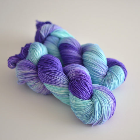 Blue Dart - Hand Dyed Yarn - Fingering