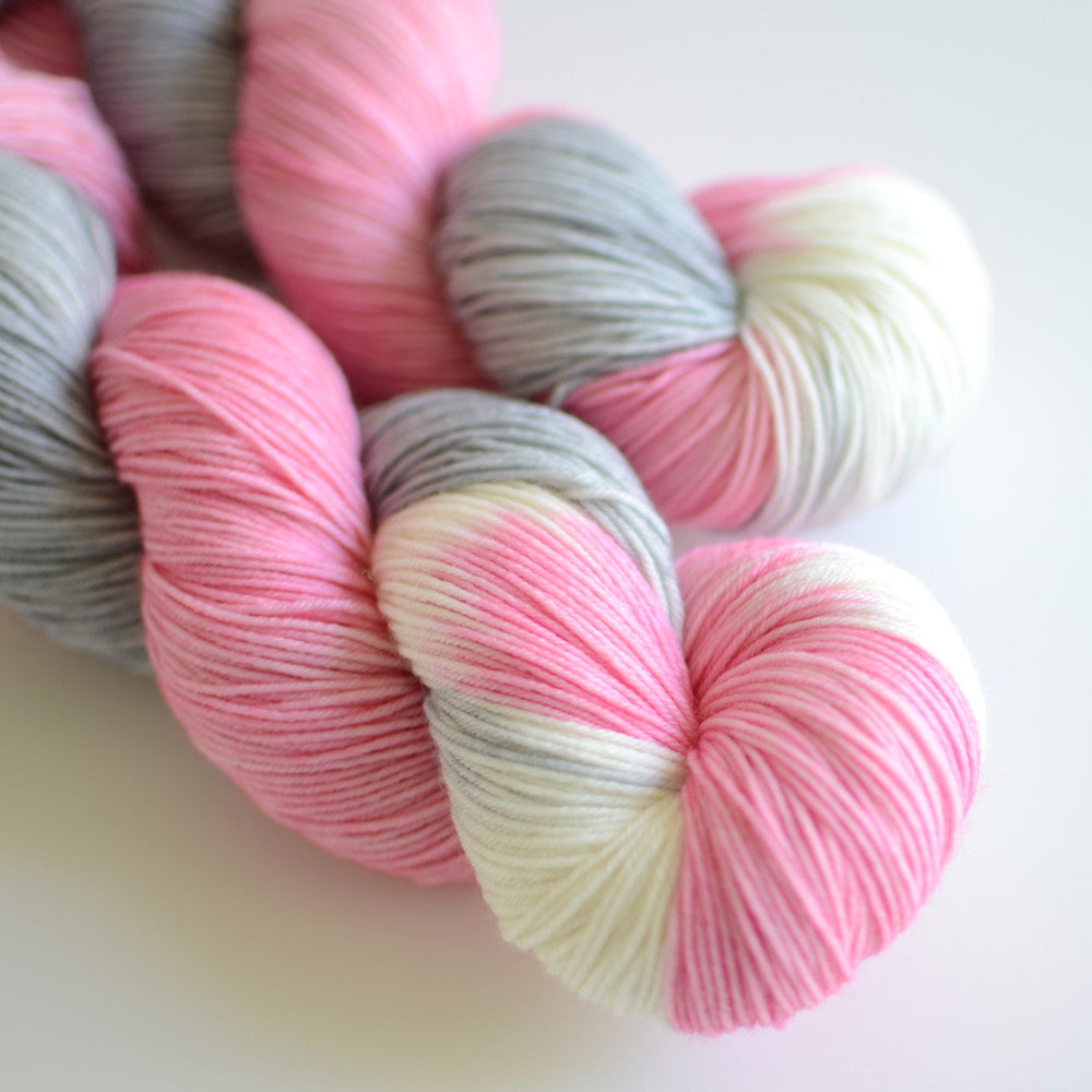 Snow Flower - Hand Dyed Yarn - Fingering