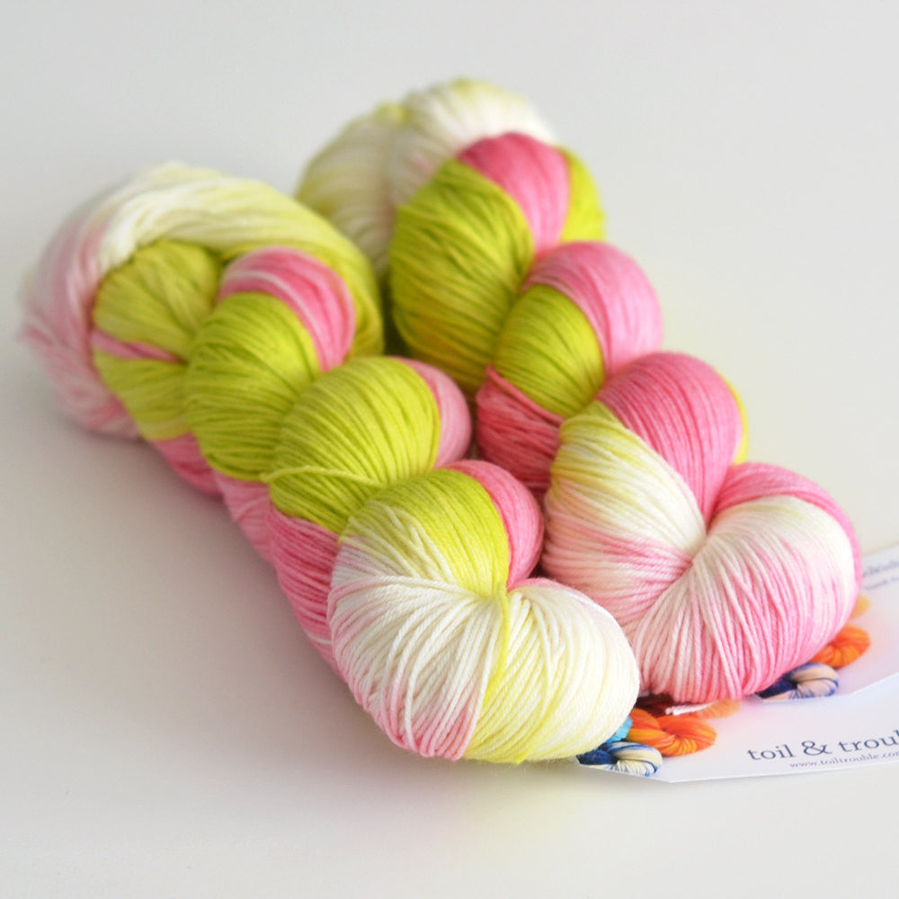 Pink Orchard - Hand Dyed Yarn - Fingering