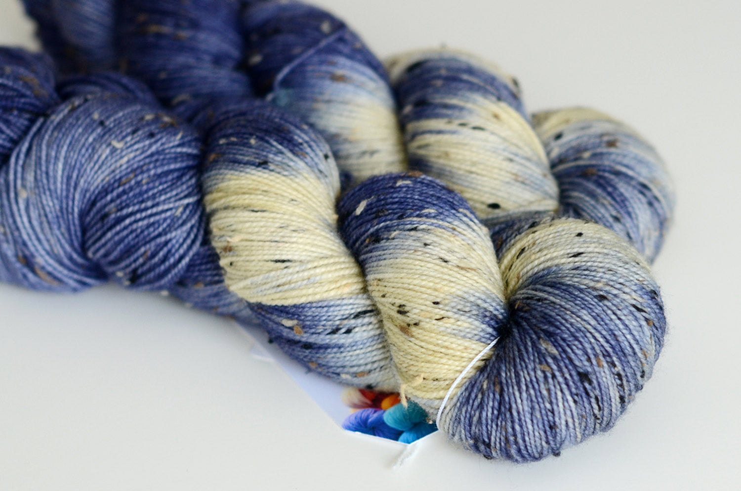 Starry Starry Night - Tweed Hand Dyed Yarn - Fingering