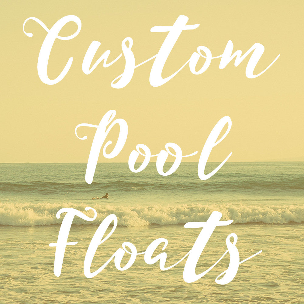 Create your own custom pool inflatables
