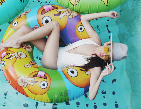 pool floaties by flonuts emoji photo