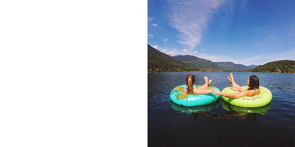 Mirae Campbell lake inflatable floaty
