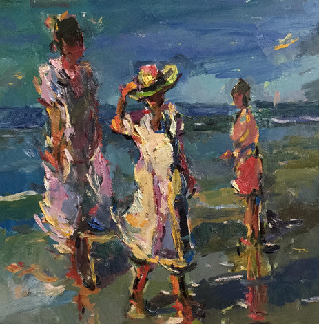 Figures at the Beach