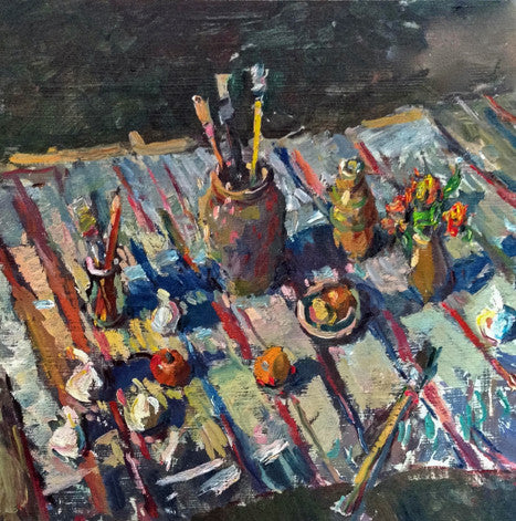 Still Life With Yellow Brush