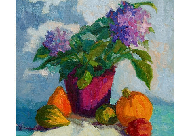 Autumn Still Life with Hydrangeas