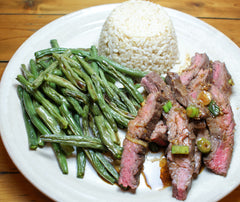 Skirt Steak with Green Beans