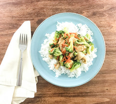 Stir-Fry with a brown garlic sauce free recipe