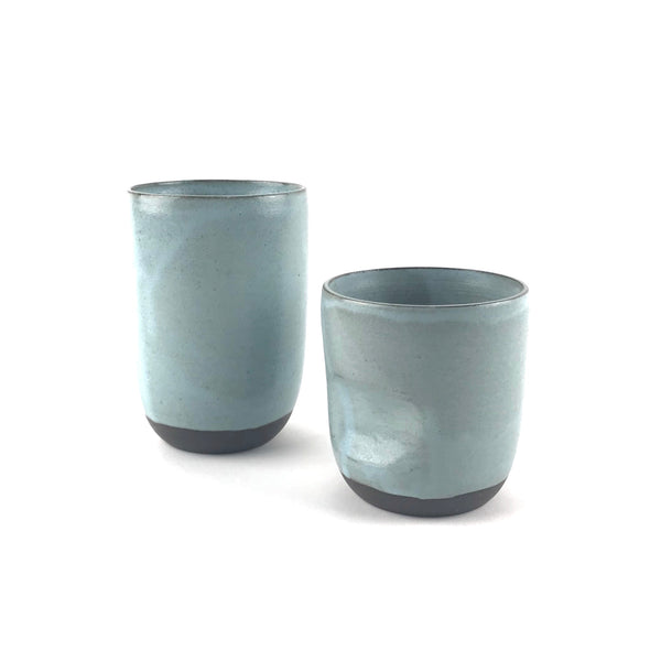 Blue Cups in Dark Clay
