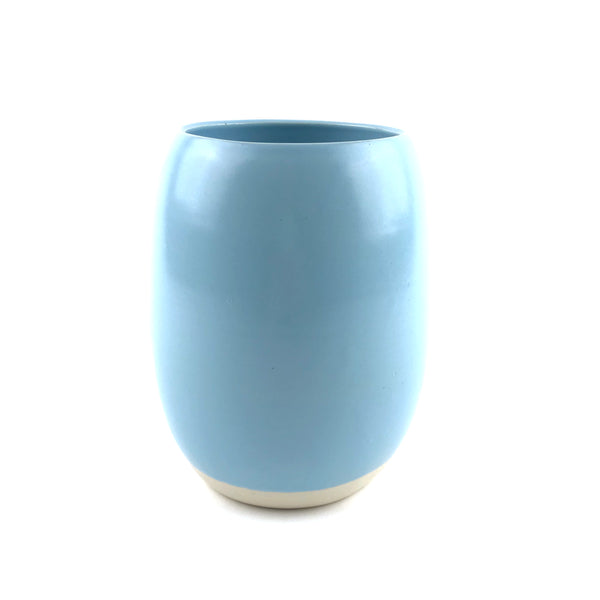 Blue Crock in White Clay