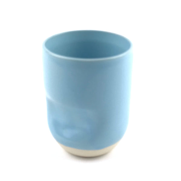 Blue Cup in White Clay