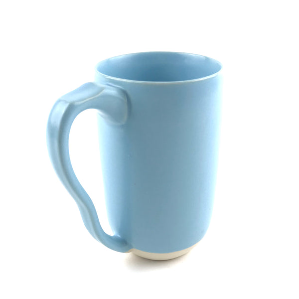 Blue Mug in White Clay