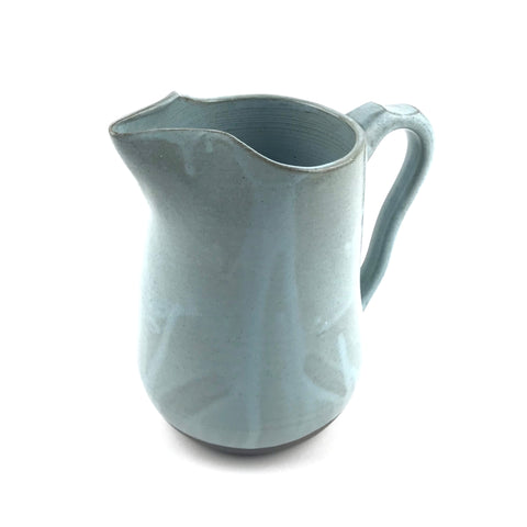 Blue Pitcher in Dark Clay