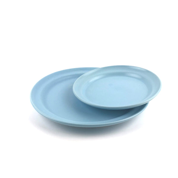 Blue Plates in White Clay