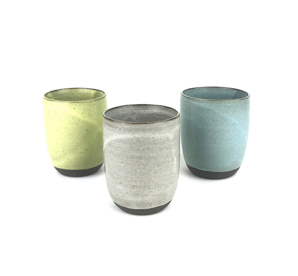 Cups in Dark Stoneware