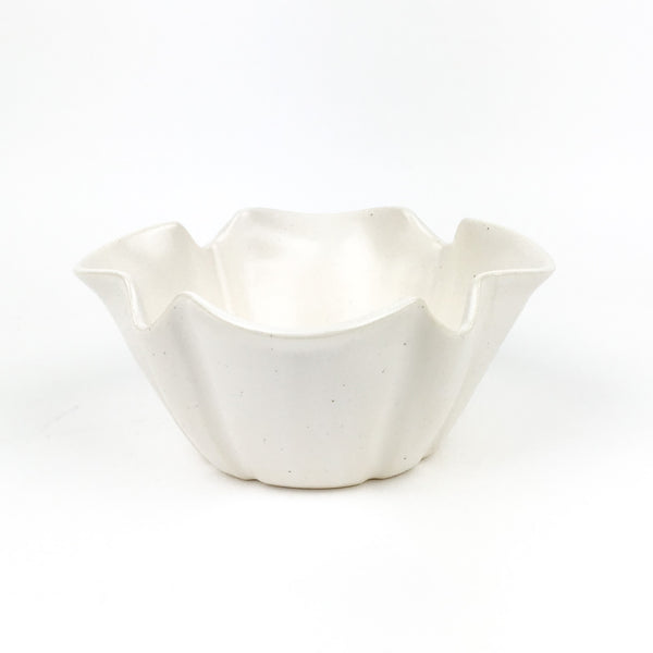 Fluted Bowls in White Stoneware