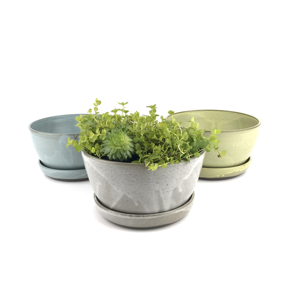 Planter Sets in Dark Stoneware
