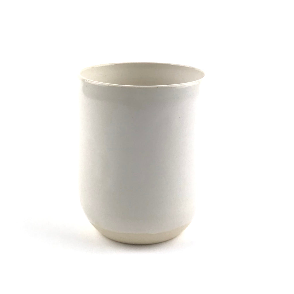 Cups in White Stoneware