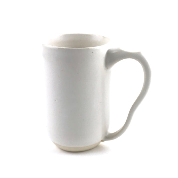 Mugs in White Stoneware