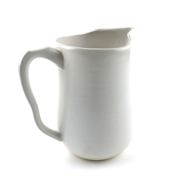 Pitchers in White Stoneware