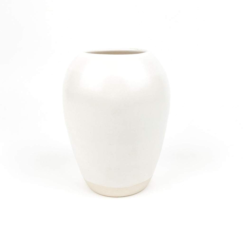 Vases in White Stoneware