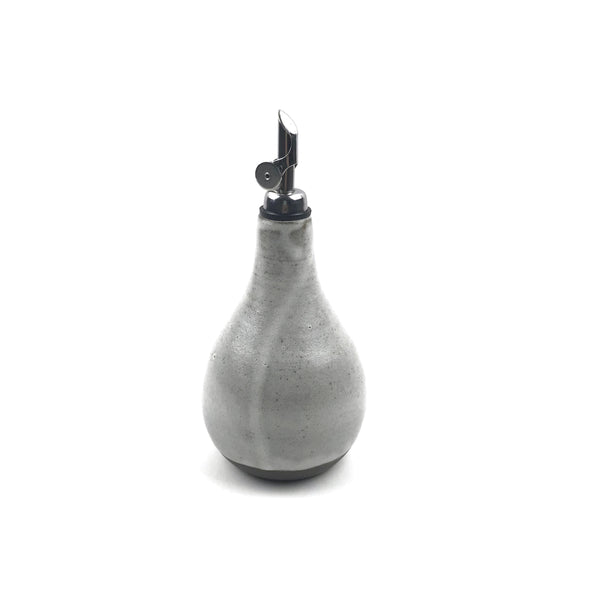 Oil Bottle Cruets in Dark Stoneware