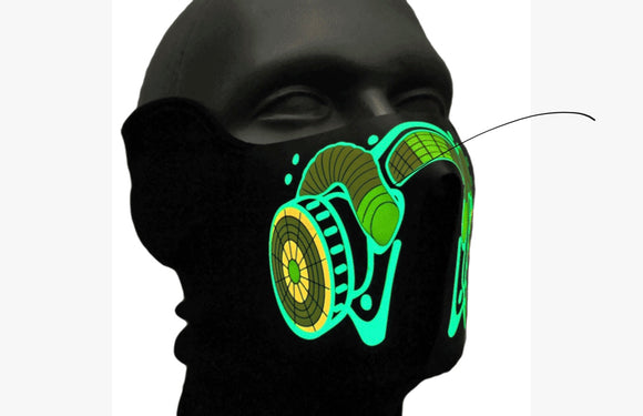 Led Light ,Music Synchronized Mask.