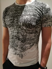 3D Graffiti, Men's Slimfit T-Shirt