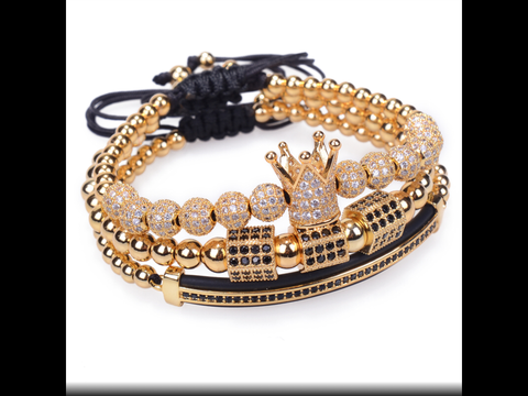 I Am Royalty , 3 Piece Unisex Bracelet