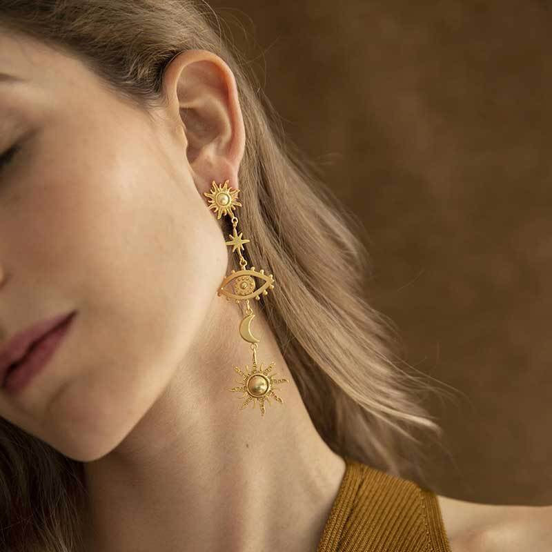 In Orbit, Drop Earrings