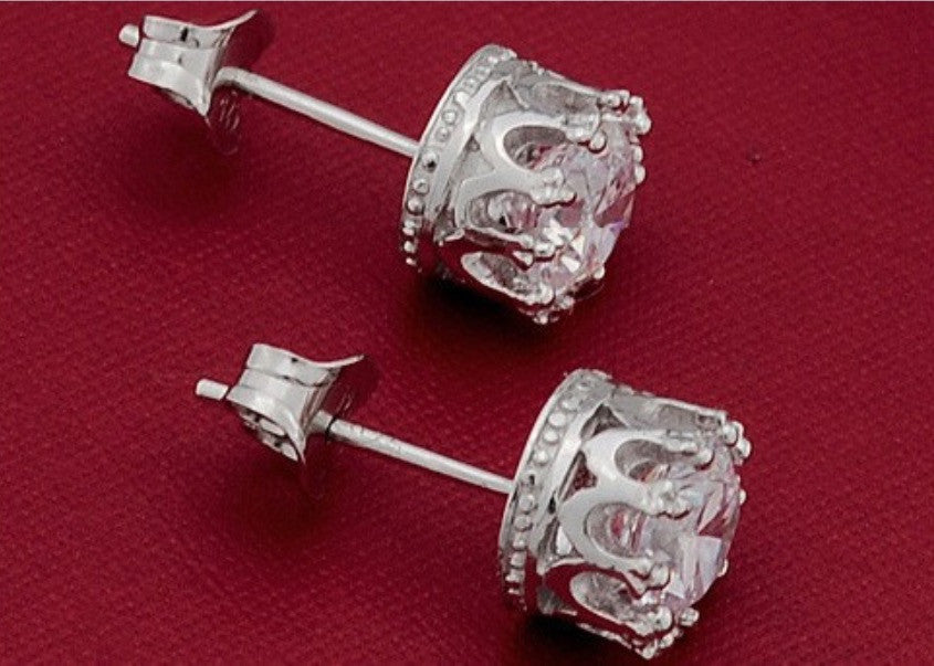 Crystal Crown Studs