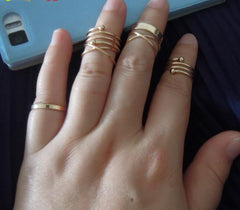 Stackable Swirl Rings