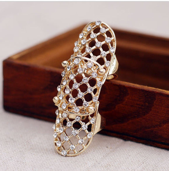 Crystal Net Ring