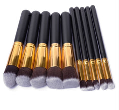 10 Pcs Make Up Brush Set.