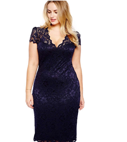 Sexy, Plus Size Lace Dress